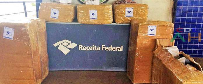 La Receita Federal confirmo que la carga aprehendida fue evaluada en más de R$ 21 mil (más de Gs. 30 millones al cambio actual).