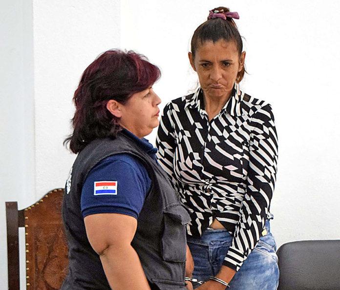 Lidia María Aquino, condenada.