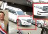 Camioneta de alta gama, sin chapa, en la que se pasea el coreano Martin Choi.