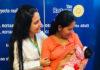 La Dra. Migdy Flores encargada del Banco de Leche Humana emocionada junto a la madre y el bebé que evoluciona favorablemente