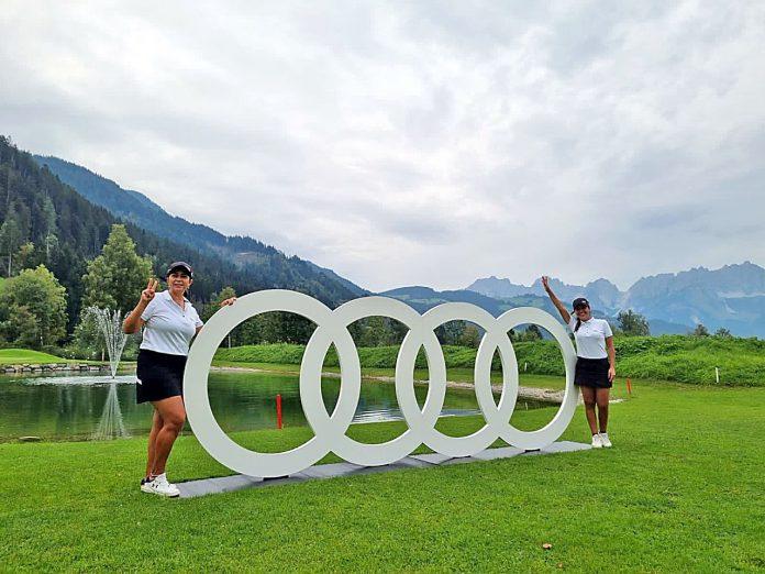 Lidia Villalba (Izq.) y Andrea Semidei saludando tras la sensacional conquista en Austria GENTILEZA.